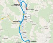 Route nach Kleinwallstadt