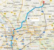 Fahrt nach Münster
