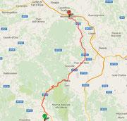 Route nach Monteriggioni