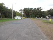 Parkplatz an der Polnischen Grenze