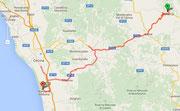Route nach Marina di Bibbona