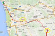 Tagesroute nach S. Gimignano