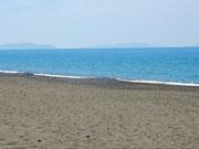 Strand des Campingplatzes mit Meer