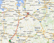 Route von Münster nach Bremen
