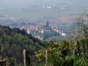 Blick vom Gebutshaus auf Vinci