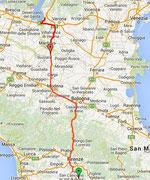 Route zum Gardasee