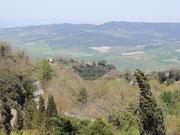 Blick von Volterra auf die Hügel