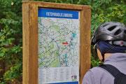 Fahrradtafel des Knotenpunktesystems in Belgien