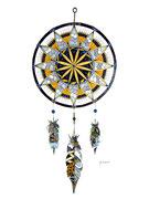 Dream catcher - zentangle techniques mixtes (24x36cm) - vendu