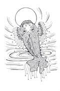 Рыба с воланами (21х29,7 см) - JHP, 2012