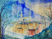 Salzburg Blick vom Kapuzinerberg  45.5 x 61