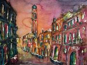 Venedig Blick auf San Grecio   46 x 61