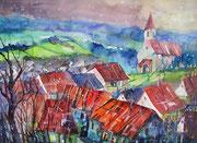 Landschaft im Kanton Aargau   45.5 x 61