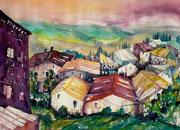 Toskana Blick über Castiglione  46 x 61