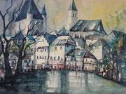 Thun Blick aufs Schloss 36 x 48