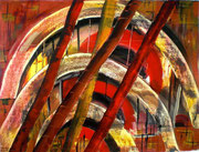 Acryl Rote Bögen  50 x 65      2013