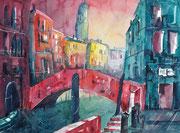 Venedig, Blick auf San Antonini 3  46 x 61