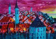 Bern mit Felsenburg  50 x 65