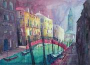 Venedig, San Barnaba im diffusen Morgenlicht  46 x 61
