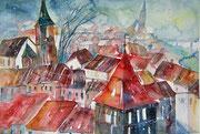 Bern Blick vom Aargauerstalden 36 x 51  verkauft