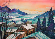 Winterbild Worblental   56 x 76