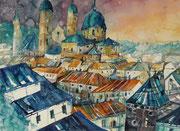Blick zum Salzburger Dom  45.5 x 61