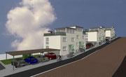 Visueller Entwurf Neubau von 6 Einfamilienwohnhäusern sonnige Hanglage  in Kippenheim