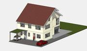 Visueller Entwurf Neubau Zweifamilienwohnhaus in Umkirch