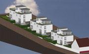 Neubau von 6 Einfamilienwohnhäusern sonnige Hanglage  in Kippenheim