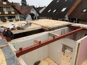 Bauphase Neubau MFH Elzach - HOLZRAHMENBAU EFFIZIENZHAUS KFW 40