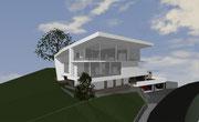 Neubau Wohnhaus am Berg mit Sicht über Waldkirch