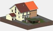 Visueller Entwurf Neubau Zweifamilienwohnhaus in Bahlingen