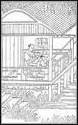Pour préparer l'encre de Chine que l'on veut essayer, on promène lentement le bâton sur l'encrier, en imprimant un mouvement rectiligne : on obtient ainsi un liquide pur et sans grumeaux. Les meilleures encres donnent une couleur brillante violette.