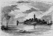 Ile et pagode sur le Min