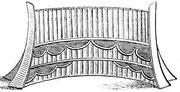 Flûte de Pan à seize tuyaux de bambou P'ai-siao. Le plus grand des tuyaux a 28,66 cm et donne l'ut dièse d'entre les lignes de la clef de fa : les autres sont accordés à un demi-ton en montant jusqu'au mi au-dessus de la portée.