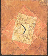 die Zeit 1933, 281 (Z1) Aquarell, Gips, Jute / Holz 25,5x21,6cm; Berggruen, St.M.Berlin