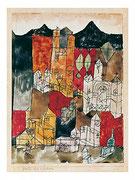 Stadt der Kirchen 1918,99, Feder Blei Aqu. 21x15,4cm privat USA