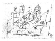 Pisch! der Gequälte 1918,137; Feder 19,4x28,5cm Albertina Wien NL Kubin