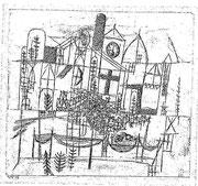 Architektur 1918,133 ; Feder 20,5x22,5cm ;privat CH