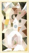 Die Kapelle 1917, 127 Aquarell, 29,5x15cm Beyeler Riehen/Basel