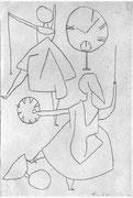chronometrischer Tanz 1940 (Nr.133) Zulustift 29,6x20,2cm Bern