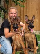 Регина с Кампиной (слева) и Кампиной фон Нордэн-Штэрн, 4 мес 20 дней