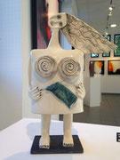 22 Sculpture femme contemporaine  Pépette.com au tricot H40.5X28CM disponible