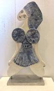 67 Sculpture femme contemporaine LA DANSEUSE H32.5X16CM disponible
