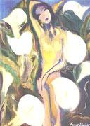 """""""El manto del encanto"""", òleo sobre lienzo, 100x81 cm."""