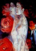 """""""Lo femenino y lo masculino"""", òleo sobre lienzo, 100x81 cm."""