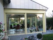 Wintergarten mit Hebeschiebe-Türen