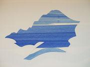 """""""Wolke"""", Papierschnitt und Monotypie, 50x35cm, 2004"""