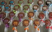 Personalisierte Schokoladen Lollis