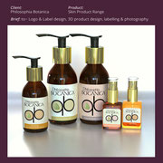 3D design & packaging, Philosophia Botanica Skin Product Range
